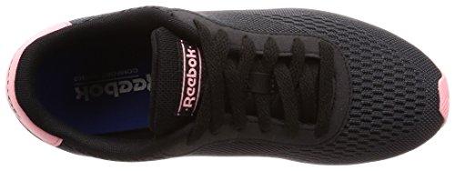 Reebok Royal CL Jog 2px, Zapatillas de Running Para Mujer Negro (Black/Ash Grey/Squad Pink/White 000)