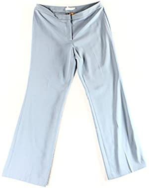 Calvin Klein Womens Wide-Leg Flat-Front Dress Pants Blue 12