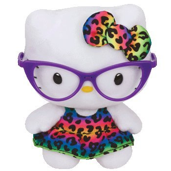 Ty Hello Kitty - Purple - Kitty Glasses With Hello