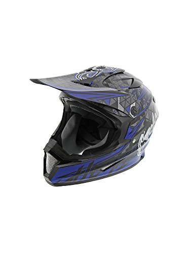 Cyclone ATV MX Dirt Bike Off-Road Helmet DOT/ECE Approved - Blue - Large