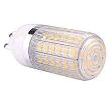 G9 15W 60x5730SMD 1500LM 2800-3200K /6000-6500K Warm White/Cool White Light LED Corn Bulb with Striped Cover (85-265V) , Warm White