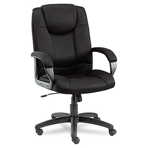 Alera ALELG41ME10B Logan Series Mesh High-Back Swivel/Tilt Chair, Black