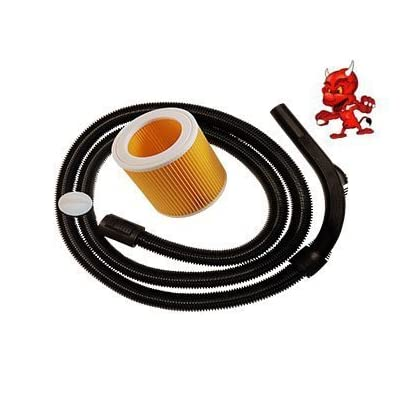 aspiration tuyau Tuyau flexible aspirateur 2m pour aspirateur kärcher wD 3.200 + filtre