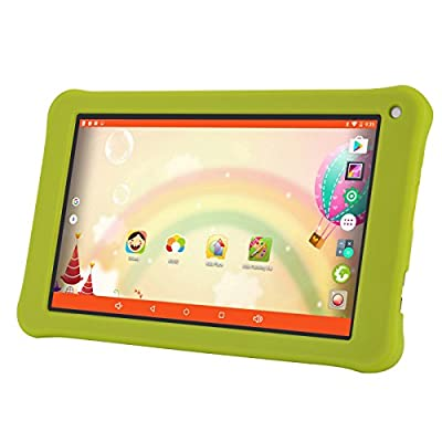 AOSON 7 Inch kids Tablet, Android 6.0 Marshmallow Quad Core CPU, IPS Touch Screen, 1GB RAM 16GB Storage, Bluetooth, Wi-Fi M753-S1 with Kid-friendly Apps Pre-Installed