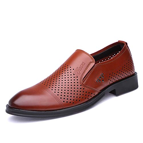 Informal de Color Ocasional Negro para One EU tamaño Hombre Moda Oxford Transpirable de Shoes Oxford Foot Jusheng Pedal Moda Formal Zapatos Marrón 39 qTwE7I