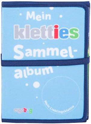 ergobag Klettie Sammelalbum mit Elastikband, DIN A5, Klett, Blau