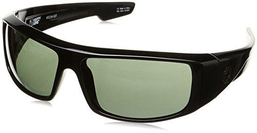 Spy Optic Logan 670939038863 Wrap Sunglasses, 60 mm (Black/Happy Gray/Green)