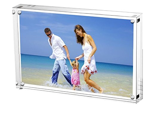 Round Clear Award Acrylic (Clear Acrylic Photo Frame 6x8