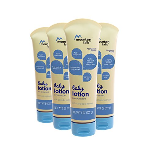 Mountain Falls Hypoallergenic Baby Lotion with Colloidal Oatmeal, Compare to Aveeno, 8 Fluid Ounce (Pack of 4)