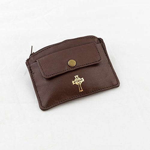 (mds Sheepskin Leather Rosary Case Brown)