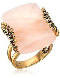 Barse Rose Quartz Statement Ring