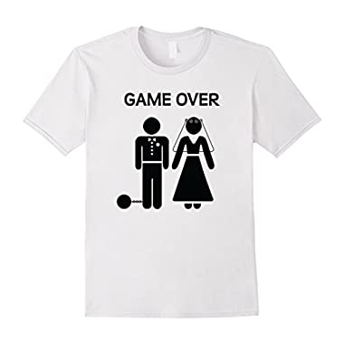Men's Game Over T-Shirt - Just married? Engaged? This is Perfect! 3XL White