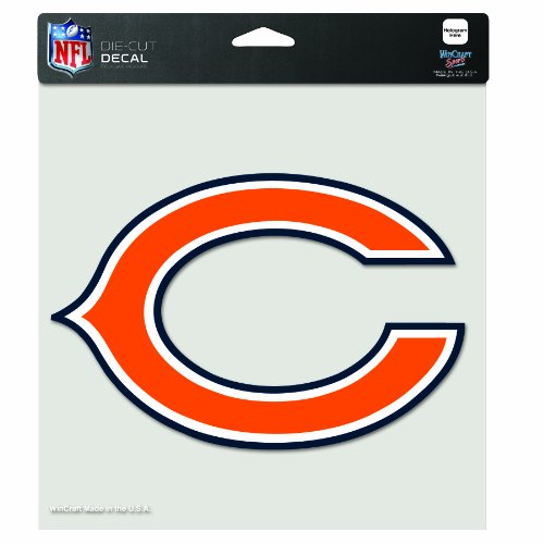 NFL Chicago Bears 8-By-8 Inch Diecut Colored Decal ?C? - Bears Wincraft Chicago Clock
