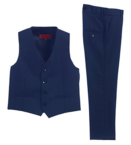 2 Piece Kids Boys Royal Blue Vest and Pants Formal Set, 7 ()