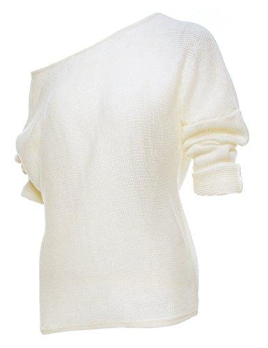 ... ZEARO Damen Sexy Pullover Lose Sweatshirt Schwarz Langarm Oversize  Oberteile Weiß 9Js461J4 ... c543ccf0a0