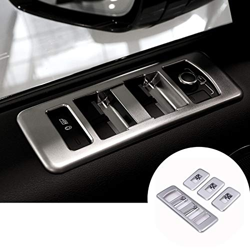 - HOTRIMWORLD Interior Car Door Window Switch Button Panel Trim Cover 4pcs for Land Rover Range Rover Sport 2014-2017