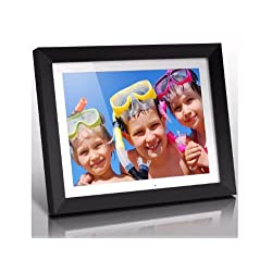 Aluratek (ADMPF415F) 15 Hi-Res Digital Photo Frame with 2 GB Built-In Memory and Remote (1024 x 768 Resolution) White Matting, Photo/Music/Video Support