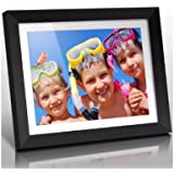 """Aluratek (ADMPF415F) 15"""" Hi-Res Digital Photo Frame with 2 GB Built-In Memory and Remote (1024 x 768 Resolution) White Matting, Photo/Music/Video Support"""