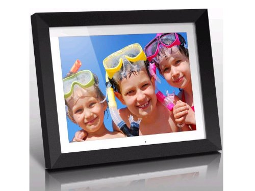 Aluratek Digital 15'' Hi Res with 2 GB Built-In Memory & Remote (4:3 Aspect Ratio) Photo Frame Digital Picture, Black (ADMPF415F) by Aluratek
