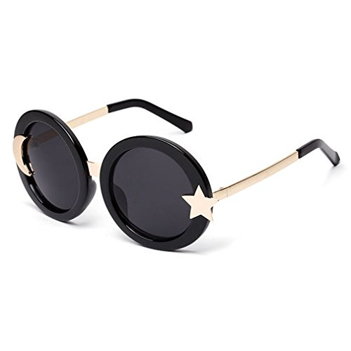 LOMOL Girls Fashion Retro Personality Cute Round Start and Moon Frame - Spectacle In Folding India Frames
