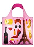 LOQI Hey.Pa Hey Paris Print Reusable Tote Bag, Multi, International Carry-On