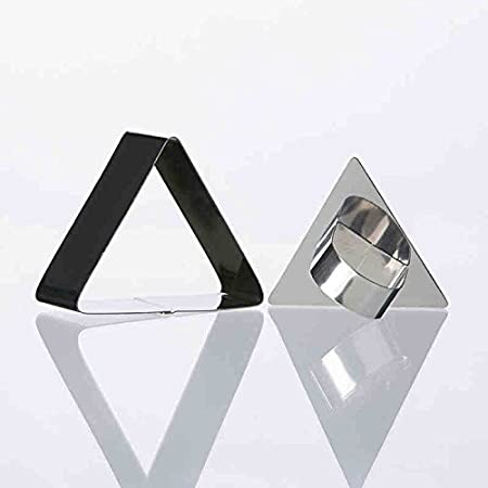 Stainless iron triangle capping model rice sushi molds DIY baking mold tool, Style 1 lucky Kiss