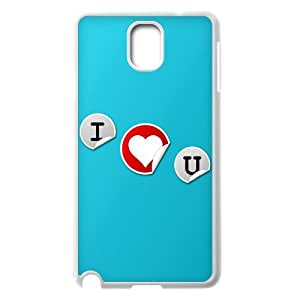 {Love Series} Samsung Galaxy Note 3 Case i Love You 2, Case Dustin - White