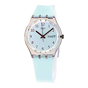 Swatch Men's Quartz Watch with Silicone Strap, Blue, 20 (Model: GE713)