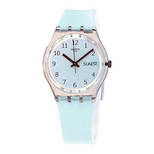 Swatch Womens Analogue Quartz Watch with Silicone Strap GE713