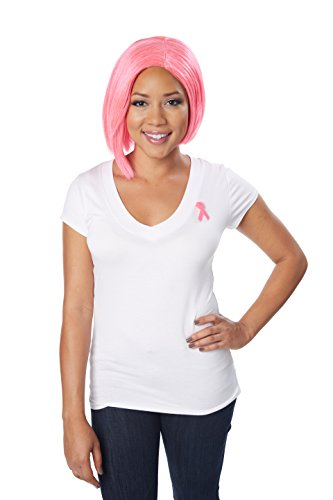Breast Cancer Costumes (California Costumes Women's Breast Cancer Research Foundation (BCRF) Bob Wig)