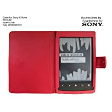RED Case for Sony PRS-T2 - carry case, etui for Sony E-Book Reader PRS T2 - fits model: Sony E-Book Reader PRS T2 - red
