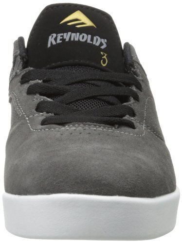 Emerica THE REYNOLDS LOW - Zapatillas de cuero hombre Grey/Black/White