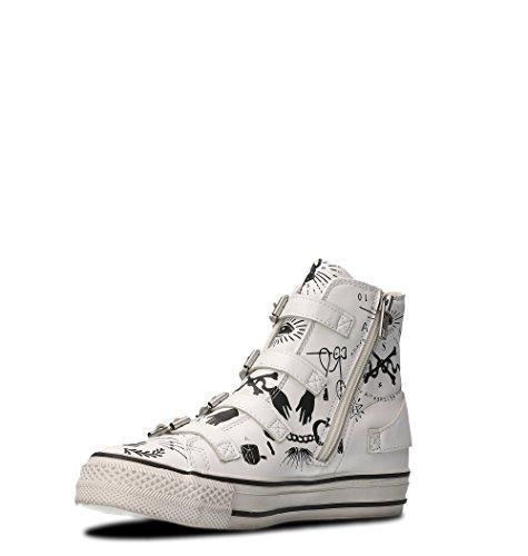 Sneakers Hohe VIRGINSKUL02WXWHI Weißes aus Leder Leder FHxn7qBfAw