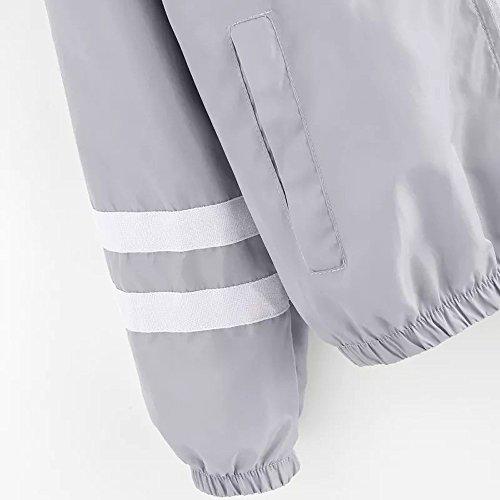 Casual Hiver Outwear Gris Printemps Blouse Tops Élégant 2018 Jumper Manteaux Femme Automne Confortable Veste Pullover Sport Hauts Sweatshirt Blouson Mode Nouvelle PwXqp0