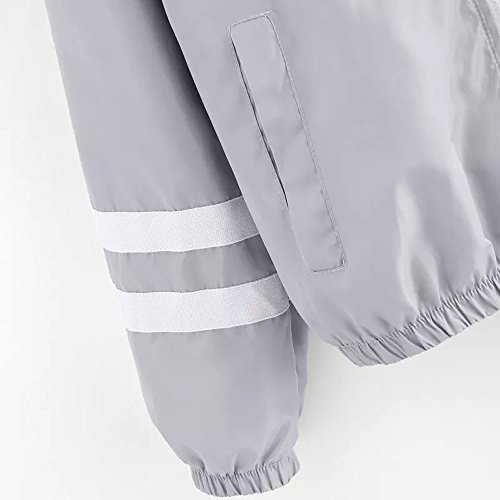 Abrigos Invierno Collar Cardigan Top Down Oficina Casual Mujer Damas Turn Moda Blazer para Gris SHOBDW Traje Larga Manga Outwear Chaqueta Formal TnxAwUq5