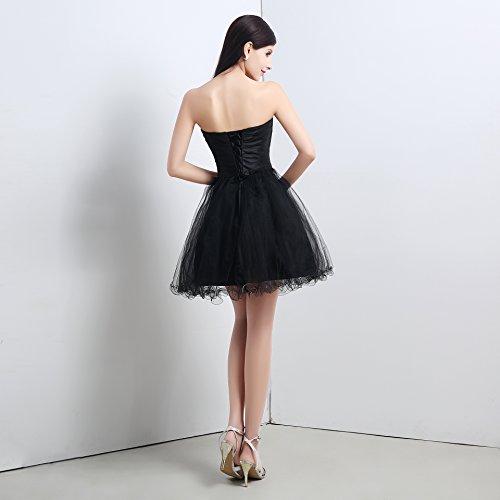 Vestito Nero Mall Donna maniche Senza linea Bridal ad a qF5aCwC