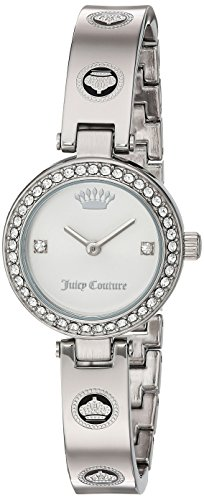 [Juicy Couture Women's 'CALI BANGLE' Quartz Stainless Steel Casual Watch, Color:Silver-Toned (Model: 1901554)] (Movado Bangle Watch)