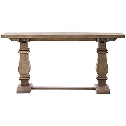 Attirant Aldridge Console Table, 30.5u0026quot;Hx62.9u0026quot;W, ANTIQUE GREY