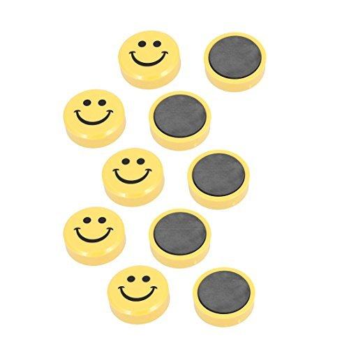 Amazon.com: eDealMax patrón de la sonrisa de la cara principal escuela de la oficina de la pizarra imán de las etiquetas engomadas magnéticas 10 piezas de ...