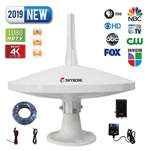 Switch Directional Omni (SKYBOXE UFO Over The AIR Antenna 65 Miles + Reception 720°Dual-Omni-Directional Indoor/Outdoor HDTV Antenna Exclusive Smartpass Amplifier & 4G LTE Enhanced VHF/UHF Reception Rooftop/Attic/RV/Marine)