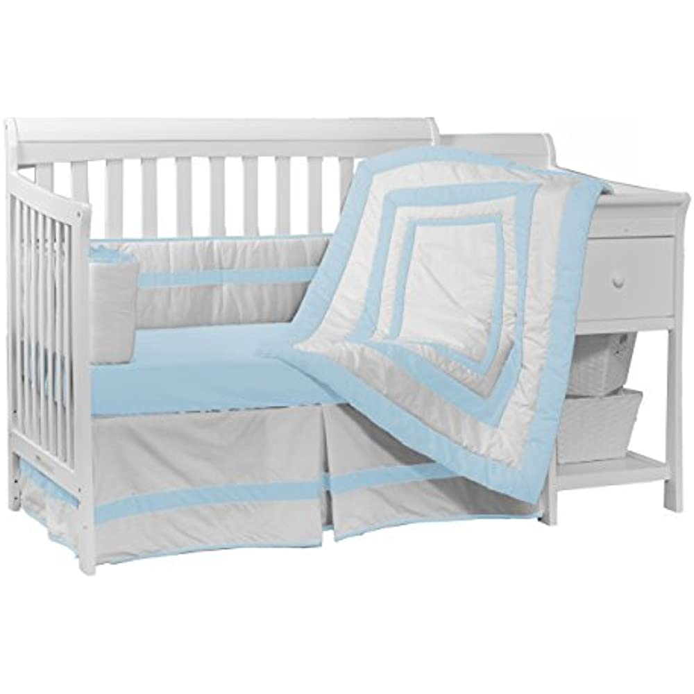 Details about Baby Bedding Sets Doll Modern Hotel Style Crib Set, Blue Boy