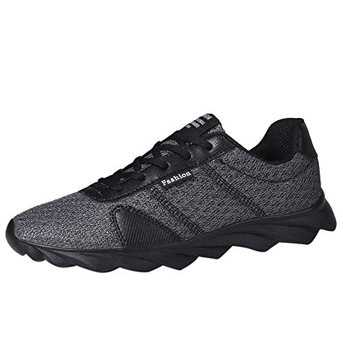 NEEKEY Men's Running Shoes Fashion Casual Beathable Mesh Lace-up Summer Gym Lightweight Walking ()