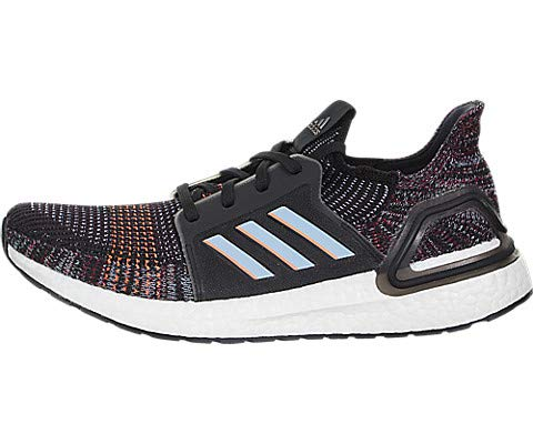 adidas Men's Ultraboost 19 Running Shoe, black/glow Blue/Black, 9.5 M US