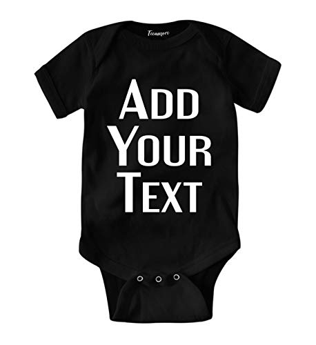 Custom Baby Onesies Add Your Text for Baby Girl & Boy Personalized Bodysuit ()