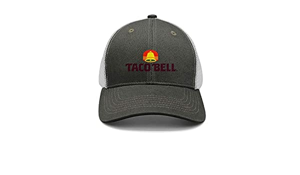 bd97d8415a084 iorty rtty Cap Adjustable Fashion Taco-Bell-Logo- Street Dancing Trucker  Hat at Amazon Men s Clothing store