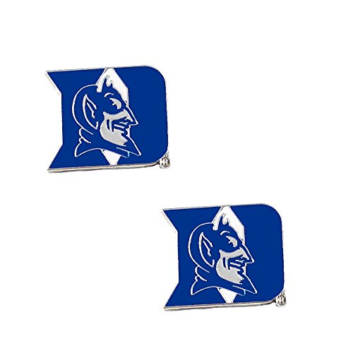 aminco Duke Blue Devils Post Stud Logo Earring Set Ncaa Charm