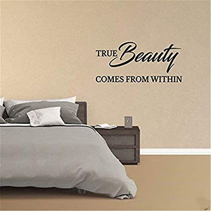 Amazoncom Quotes Art Decals Vinyl Wall Stickers True Beauty Comes