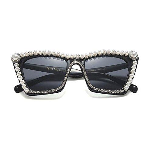 Retro Marco Moda Gafas Elegante Mujer Deylaying Ligero C4a gato sol Negro de Gris Adulto Brillante Ojo de Unisex Súper 8xHPXn7Pwz