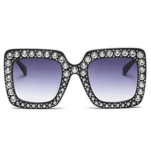 SUNGLASSES, FORTHERY WOMEN FASHION RETRO CLASSIC DIAMOND TRENDY STYLISH SUN GLASSES - Sun Stylish Glasses