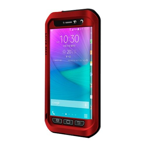 Love Mei Shockproof Water Resistant Dust/Dirt/Snow Proof Aluminum Metal Heavy Duty Protection Case Cover for Samsung Galaxy Note Edge N9150 Red (Galaxy Note Edge Metal Case compare prices)